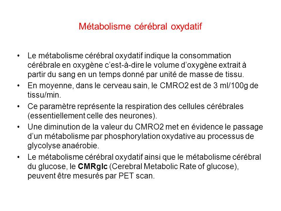 Métabolisme cérébral oxydatif