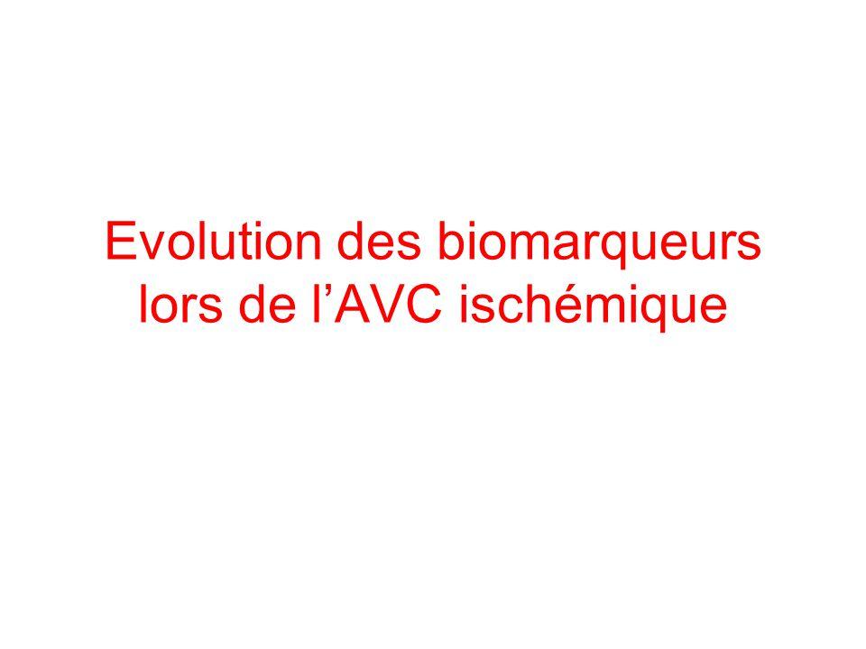 Evolution des biomarqueurs lors de l'AVC ischémique