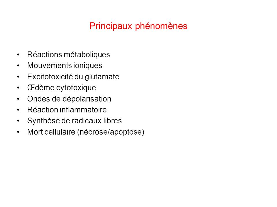 Principaux phénomènes