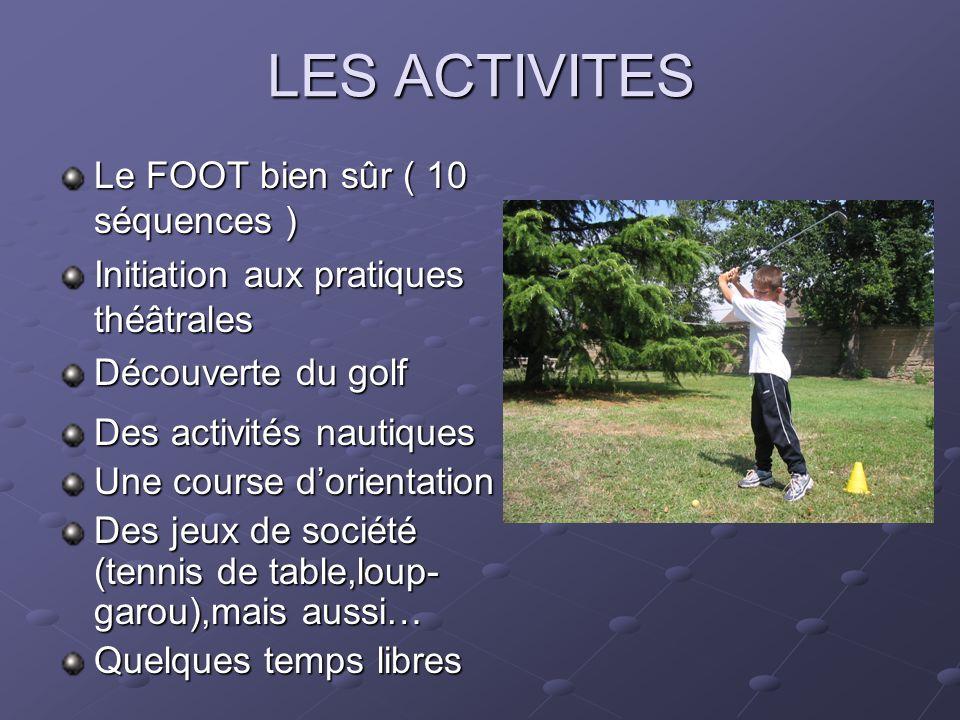 LES ACTIVITES Le FOOT bien sûr ( 10 séquences )