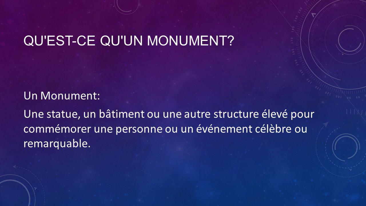 Qu est-ce qu un monument