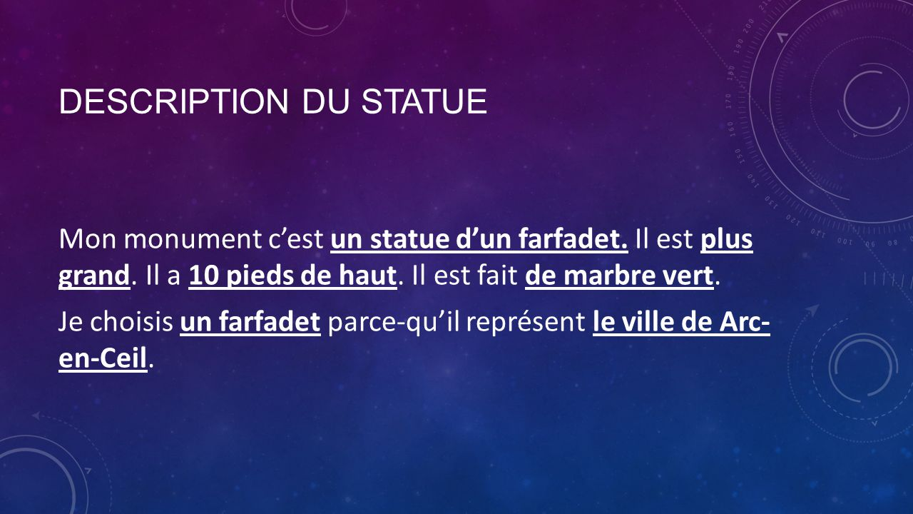 Description du statue