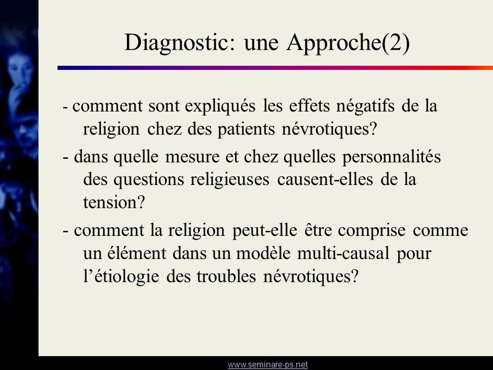 Diagnostic: une Approche(2)