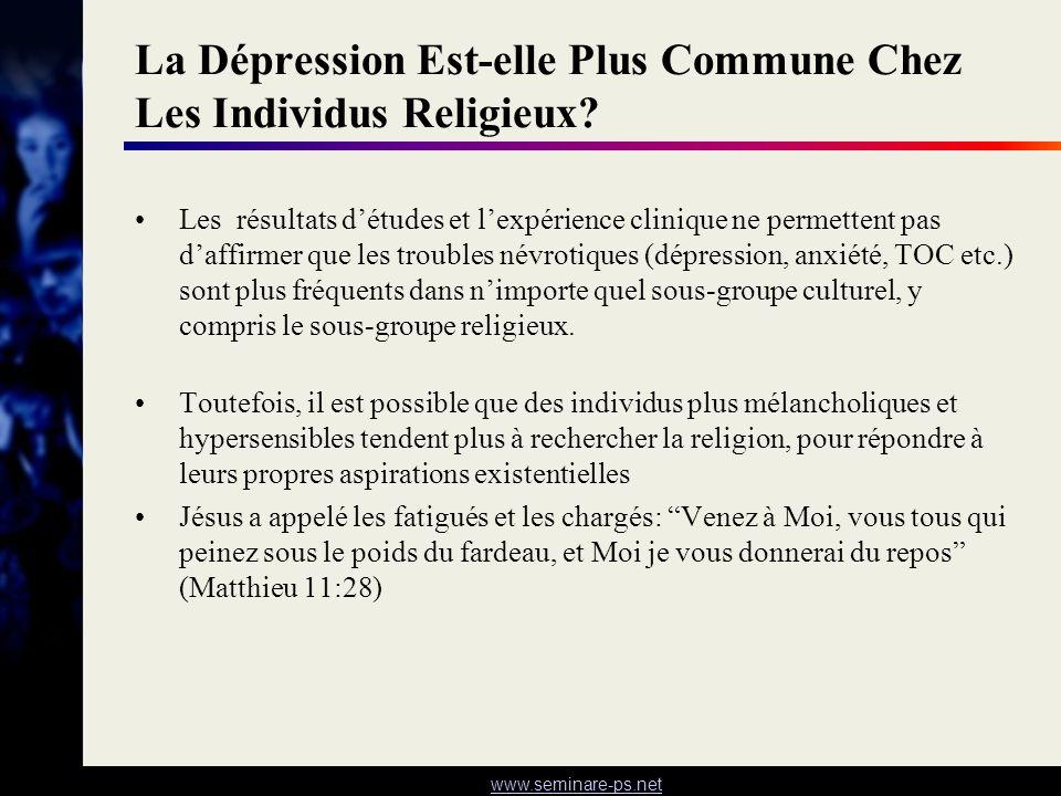 La Dépression Est-elle Plus Commune Chez Les Individus Religieux