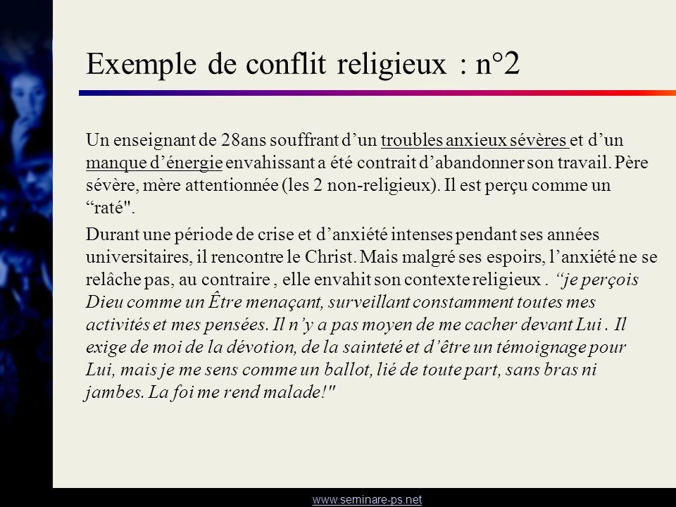 Exemple de conflit religieux : n°2