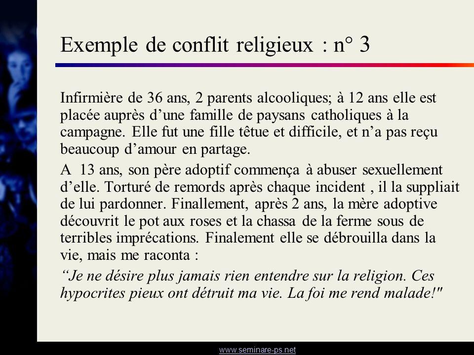 Exemple de conflit religieux : n° 3