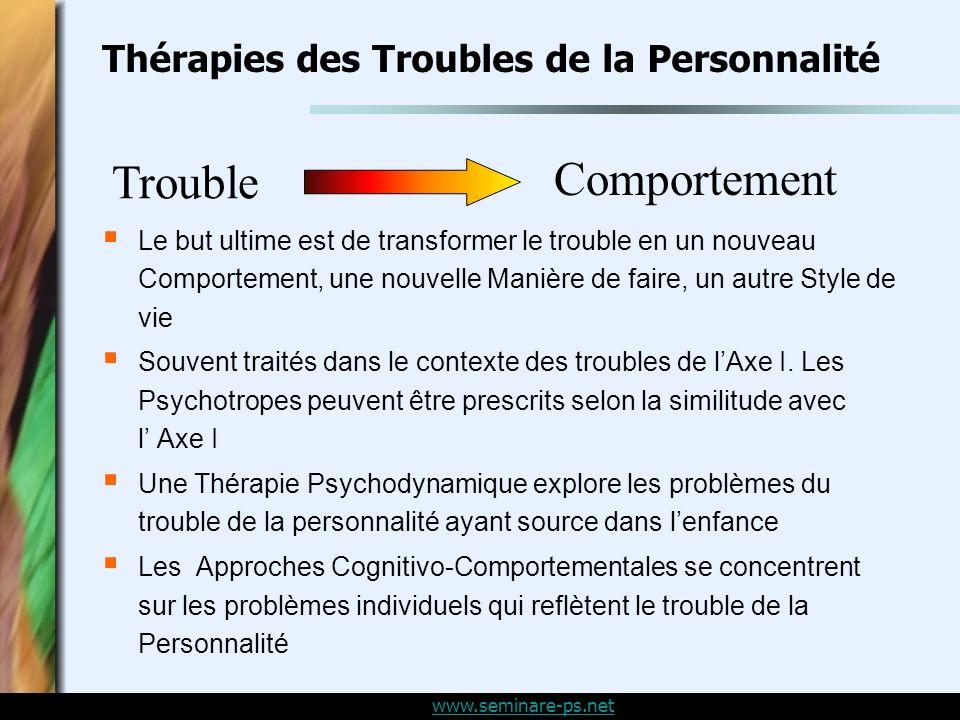 Thérapies des Troubles de la Personnalité