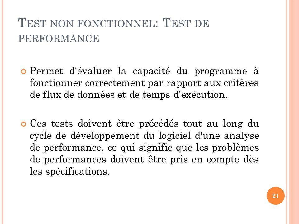Test non fonctionnel: Test de performance