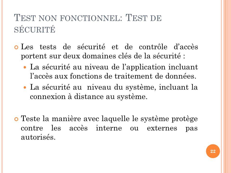Test non fonctionnel: Test de sécurité