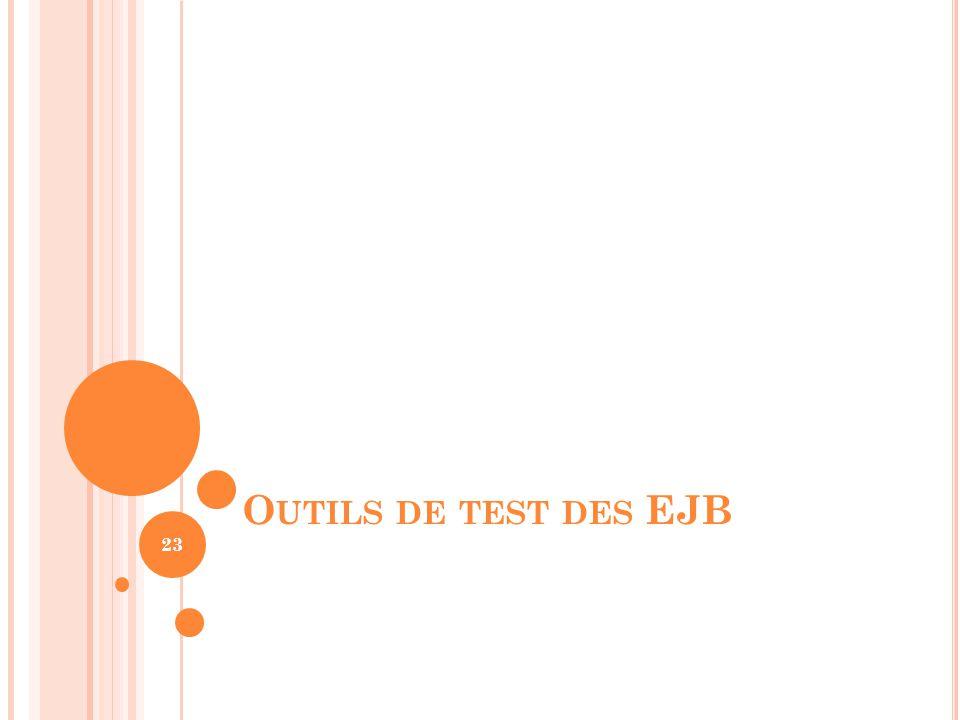 Outils de test des EJB