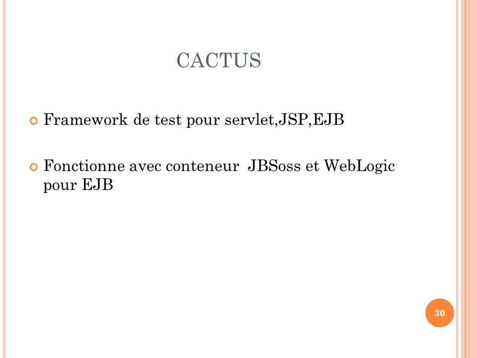 CACTUS Framework de test pour servlet,JSP,EJB