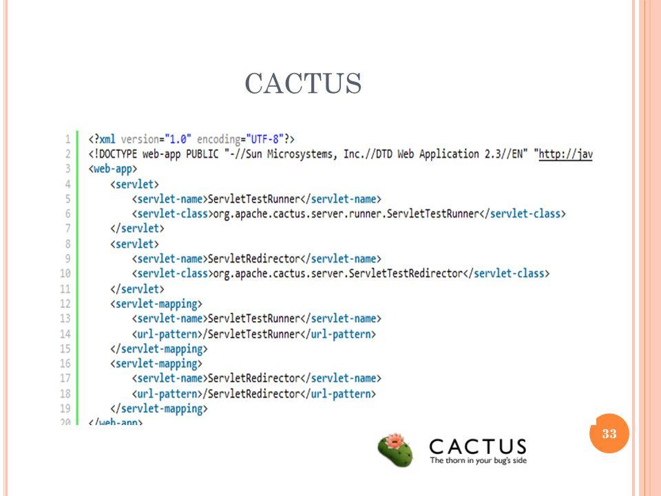 CACTUS Framework de test pr selvlet, jsp et ejb