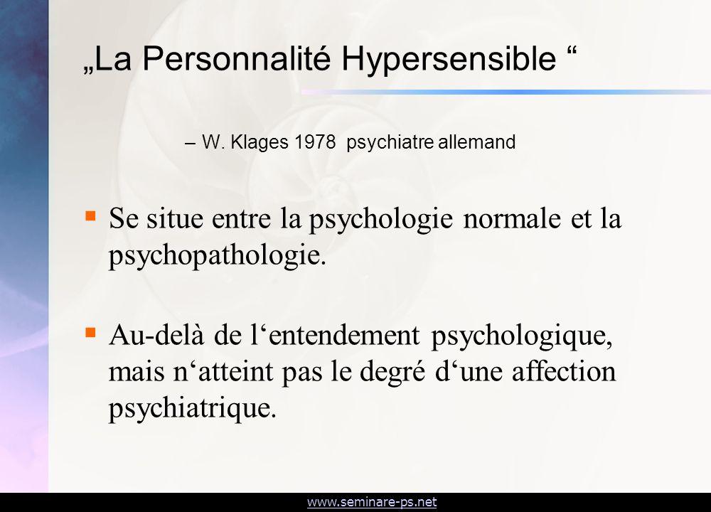 """""""La Personnalité Hypersensible"""