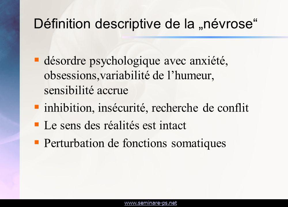 """Définition descriptive de la """"névrose"""