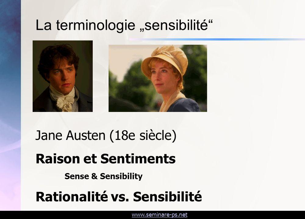 """La terminologie """"sensibilité"""