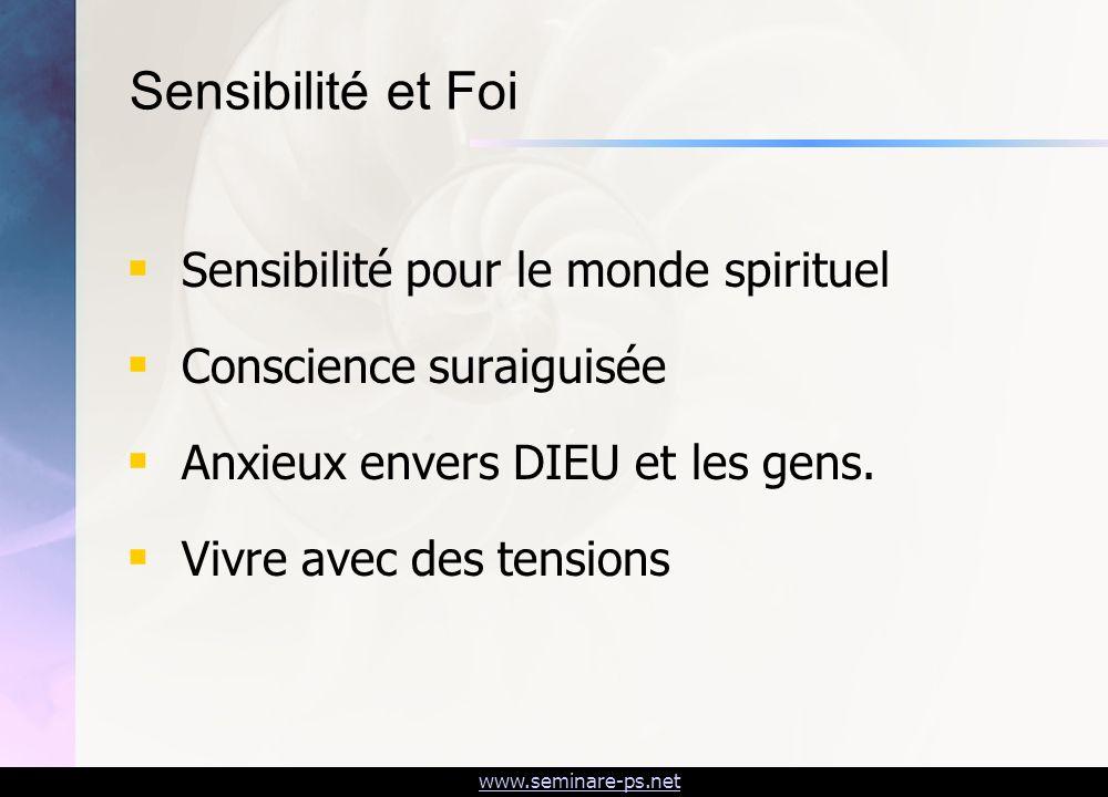 Sensibilité et Foi Sensibilité pour le monde spirituel