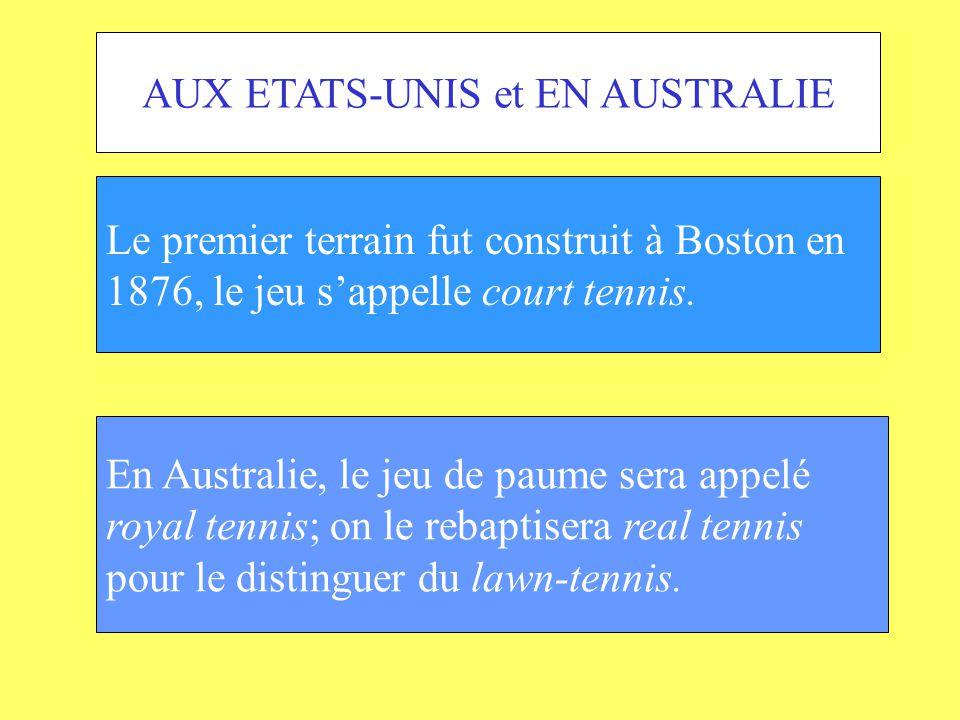 AUX ETATS-UNIS et EN AUSTRALIE