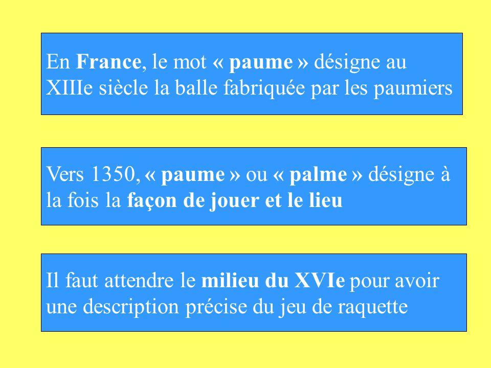 En France, le mot « paume » désigne au