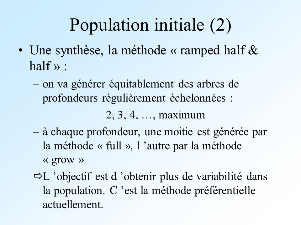 Population initiale (2)