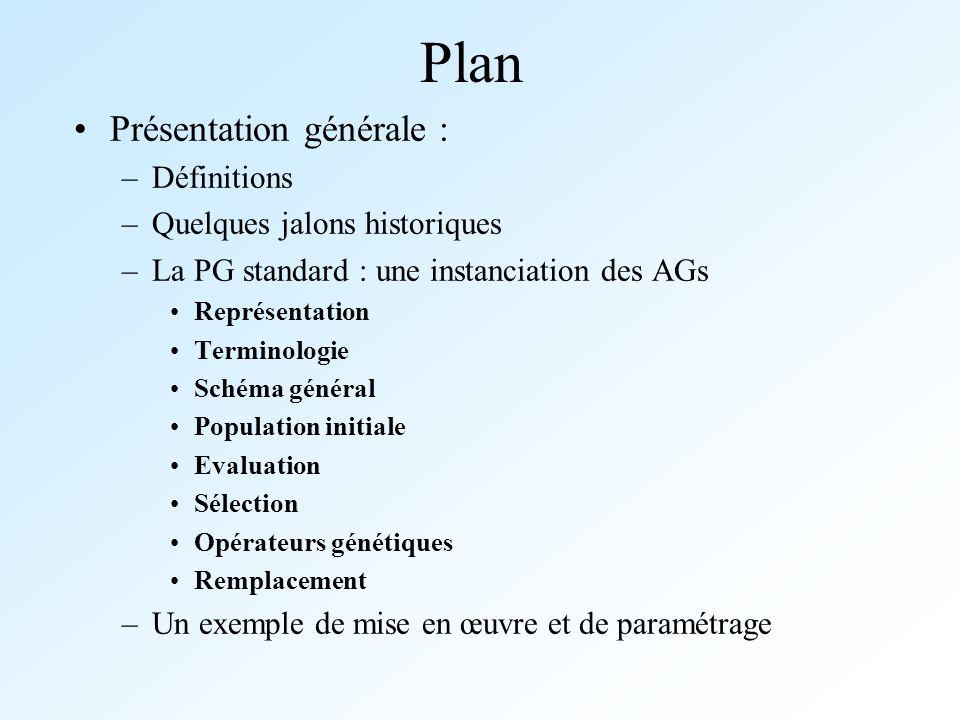 Plan Présentation générale : Définitions Quelques jalons historiques