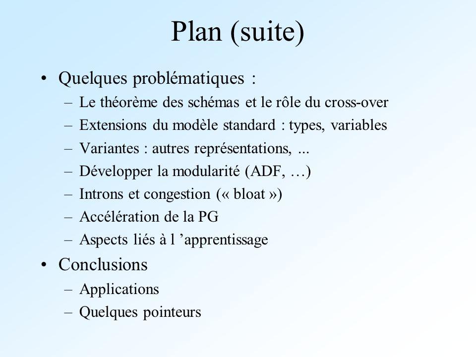 Plan (suite) Quelques problématiques : Conclusions