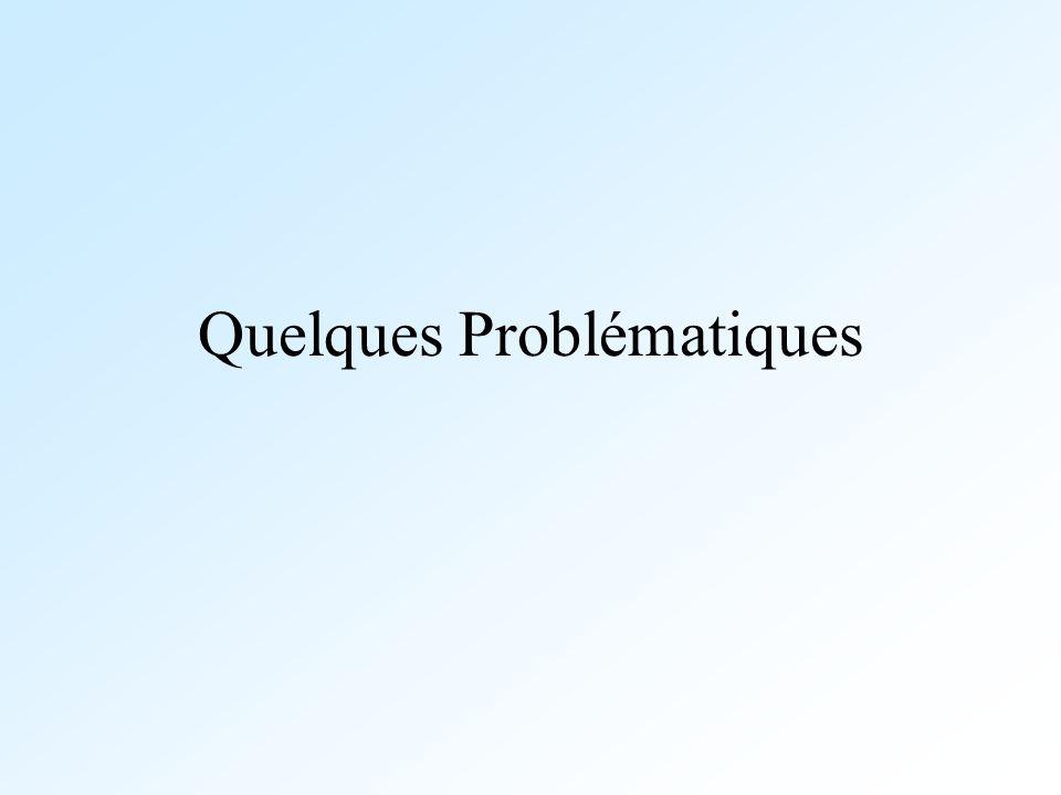 Quelques Problématiques