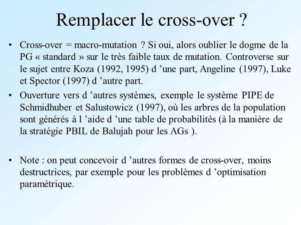 Remplacer le cross-over