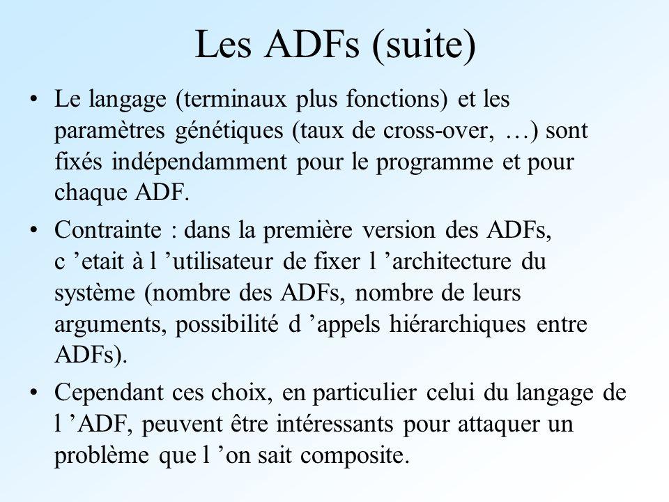 Les ADFs (suite)
