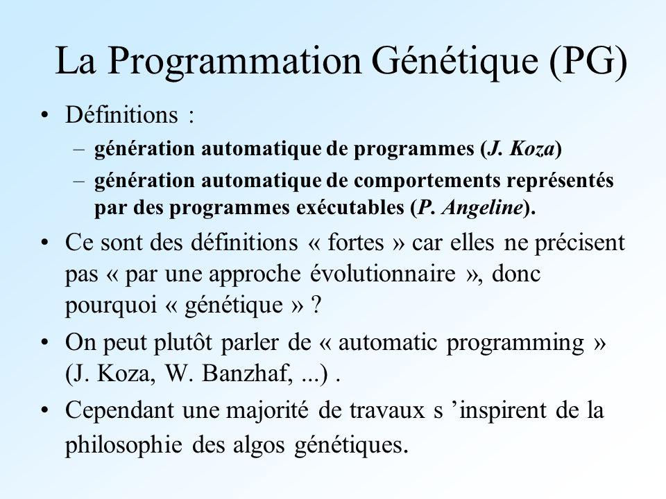 La Programmation Génétique (PG)
