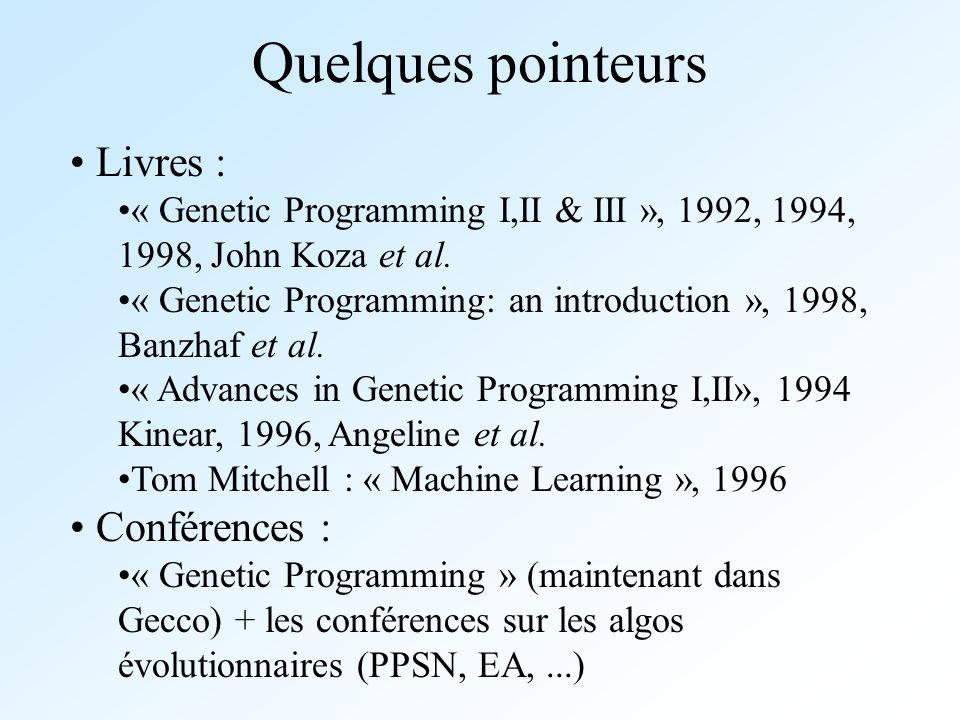 Quelques pointeurs Livres : Conférences :