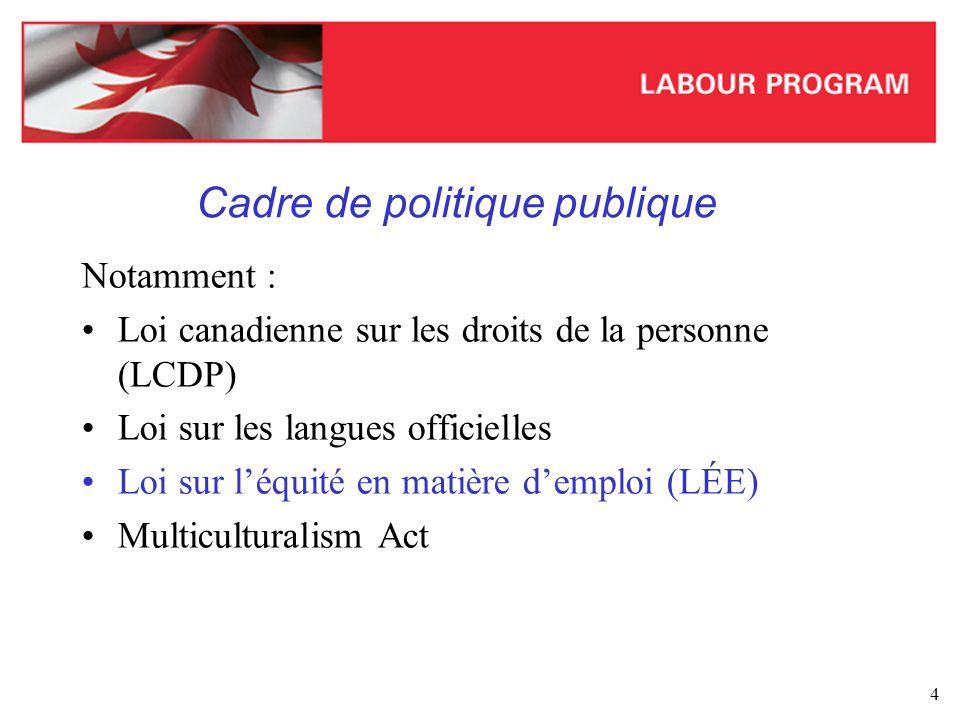 Cadre de politique publique