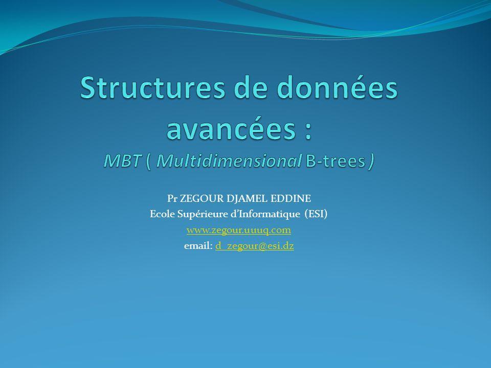 Structures de données avancées : MBT ( Multidimensional B-trees )
