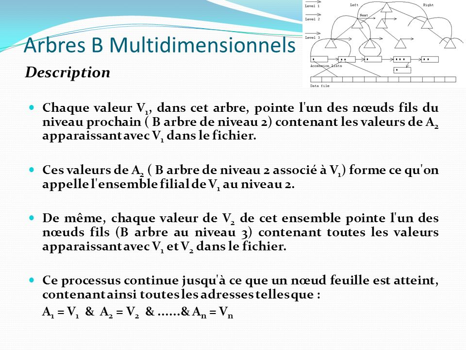 Arbres B Multidimensionnels