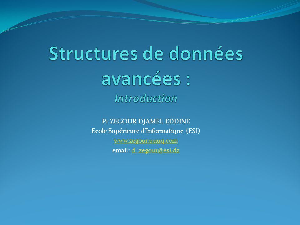 Structures de données avancées : Introduction