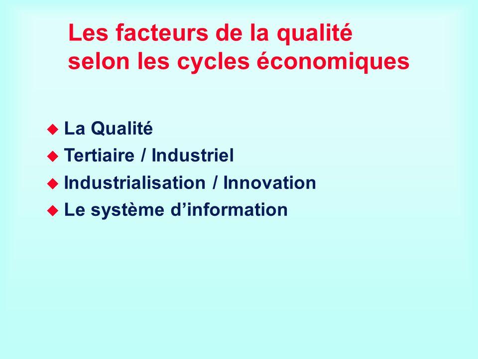 Les facteurs de la qualité selon les cycles économiques