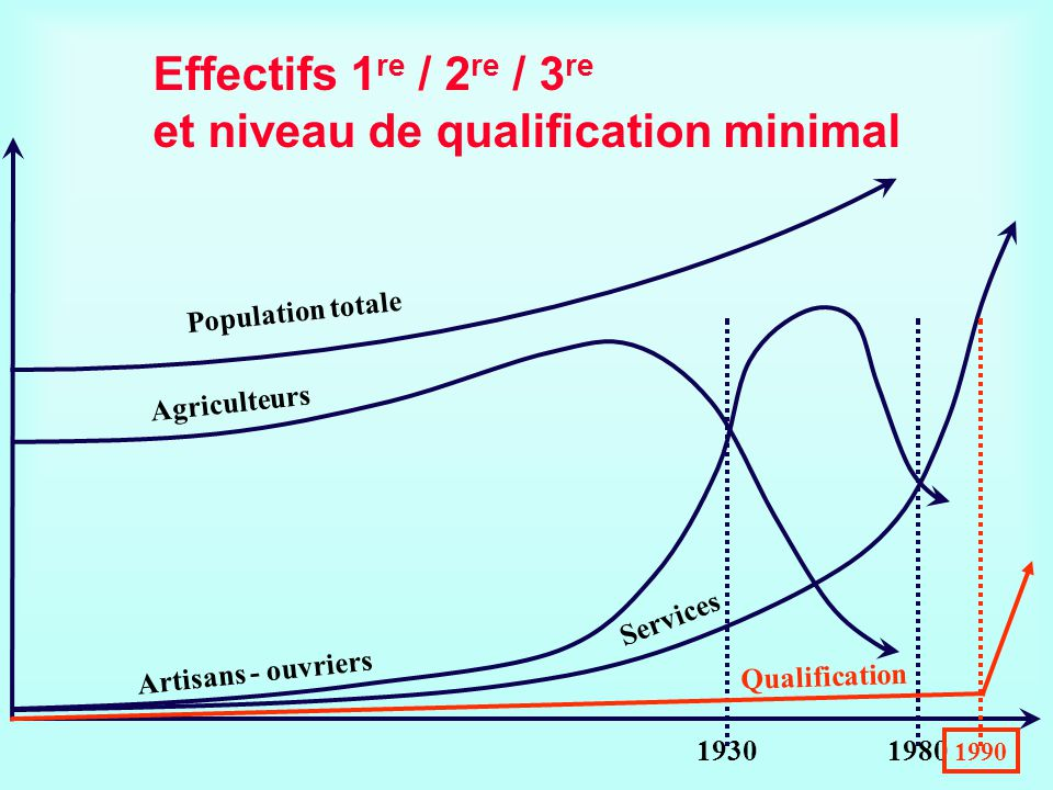 Effectifs 1re / 2re / 3re et niveau de qualification minimal