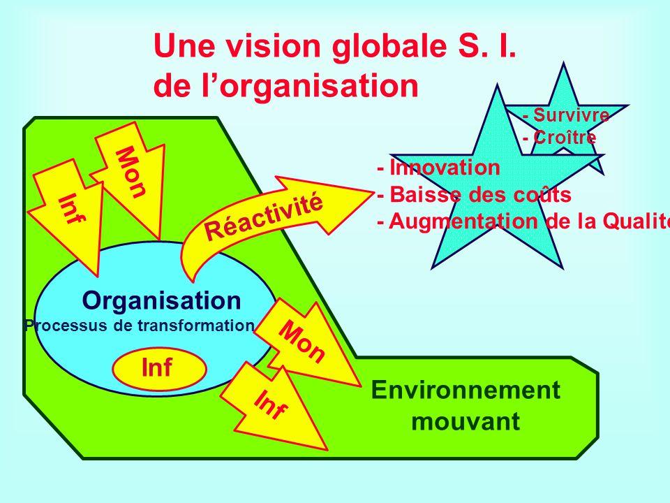 Une vision globale S. I. de l'organisation
