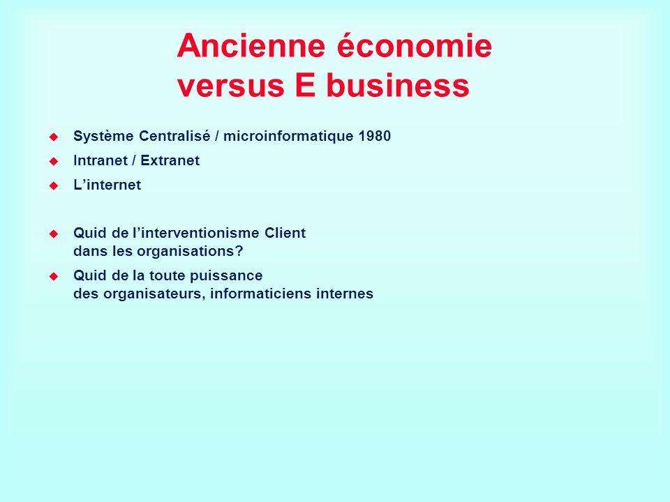Ancienne économie versus E business