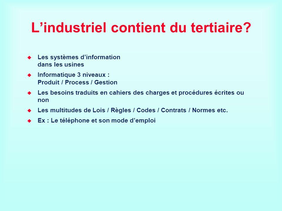 L'industriel contient du tertiaire