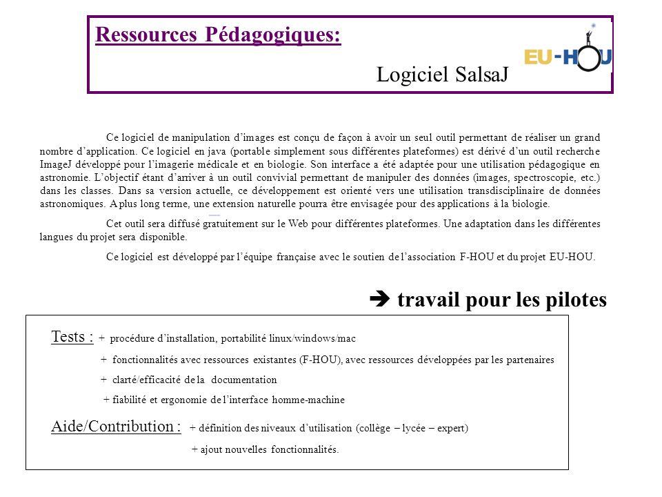 Ressources Pédagogiques: Logiciel SalsaJ