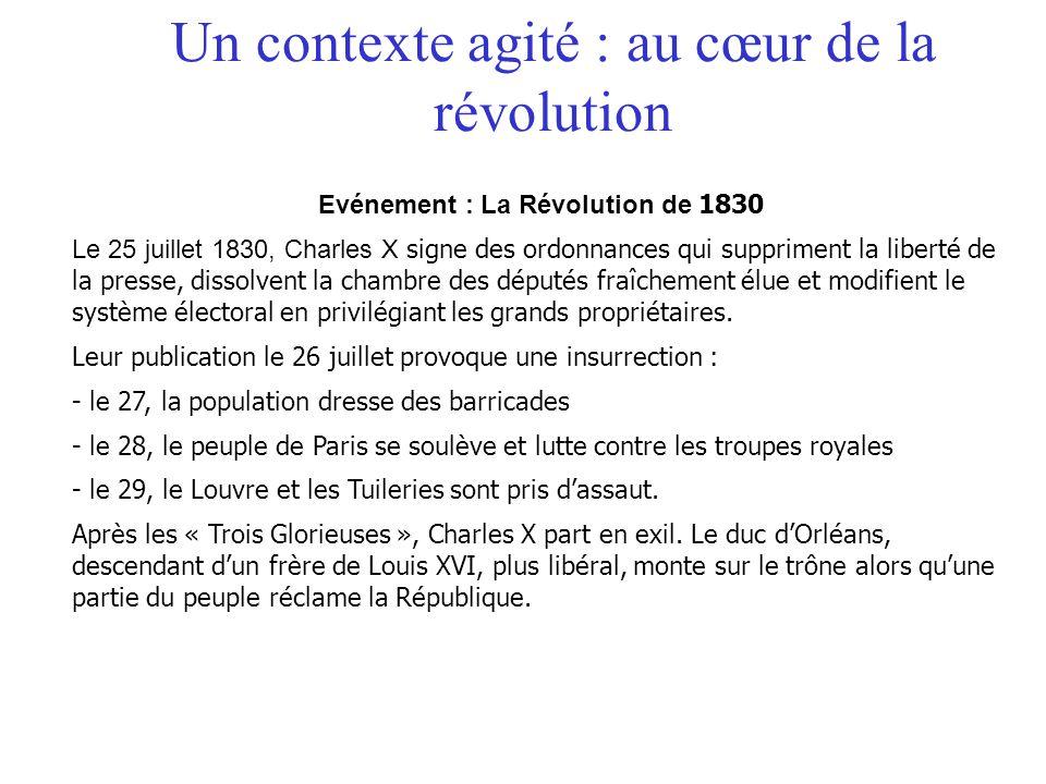 Un contexte agité : au cœur de la révolution