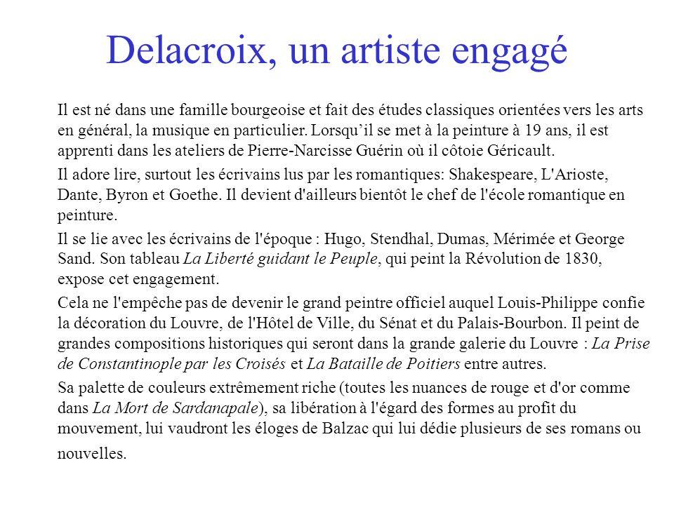 Delacroix, un artiste engagé