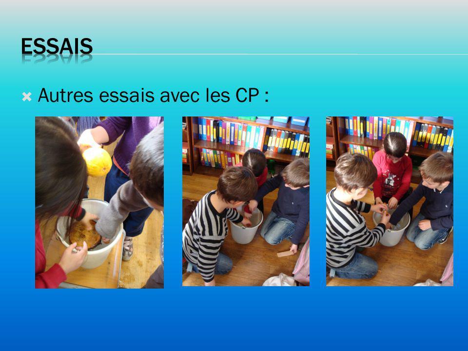essais Autres essais avec les CP :