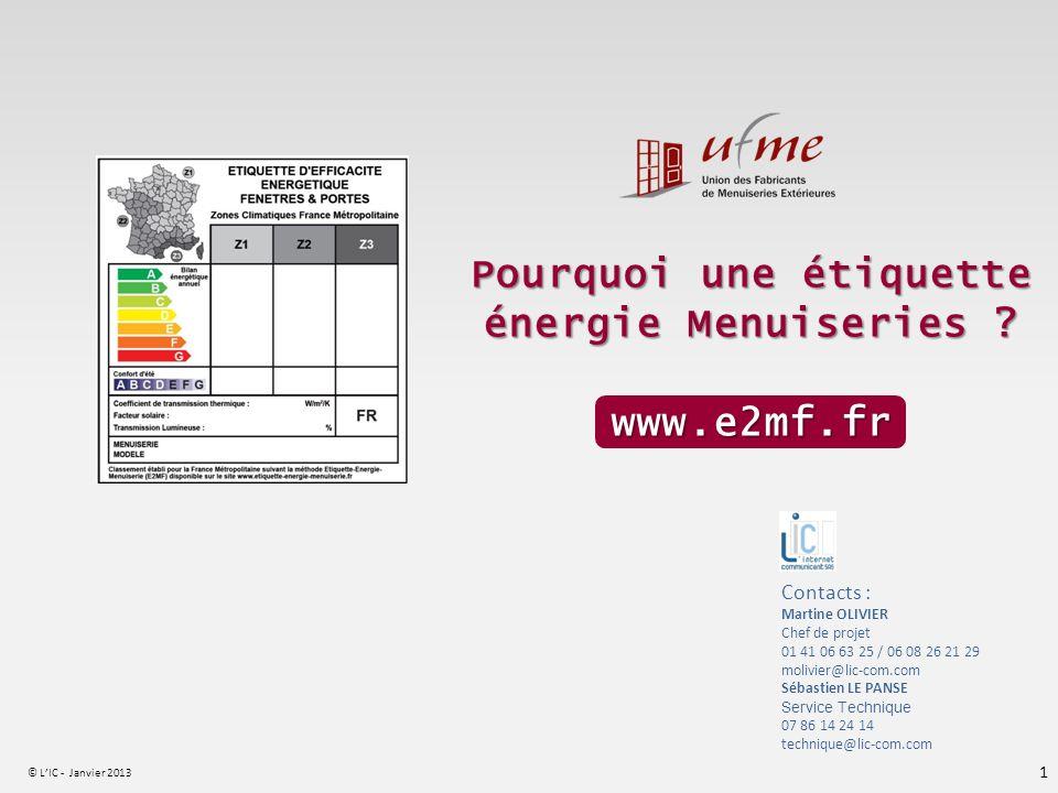 Pourquoi une étiquette énergie Menuiseries www.e2mf.fr