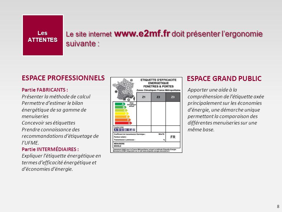 ESPACE PROFESSIONNELS ESPACE GRAND PUBLIC