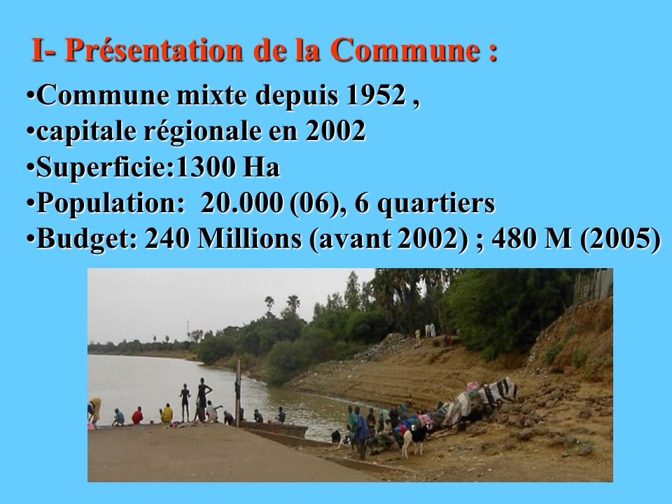 I- Présentation de la Commune :