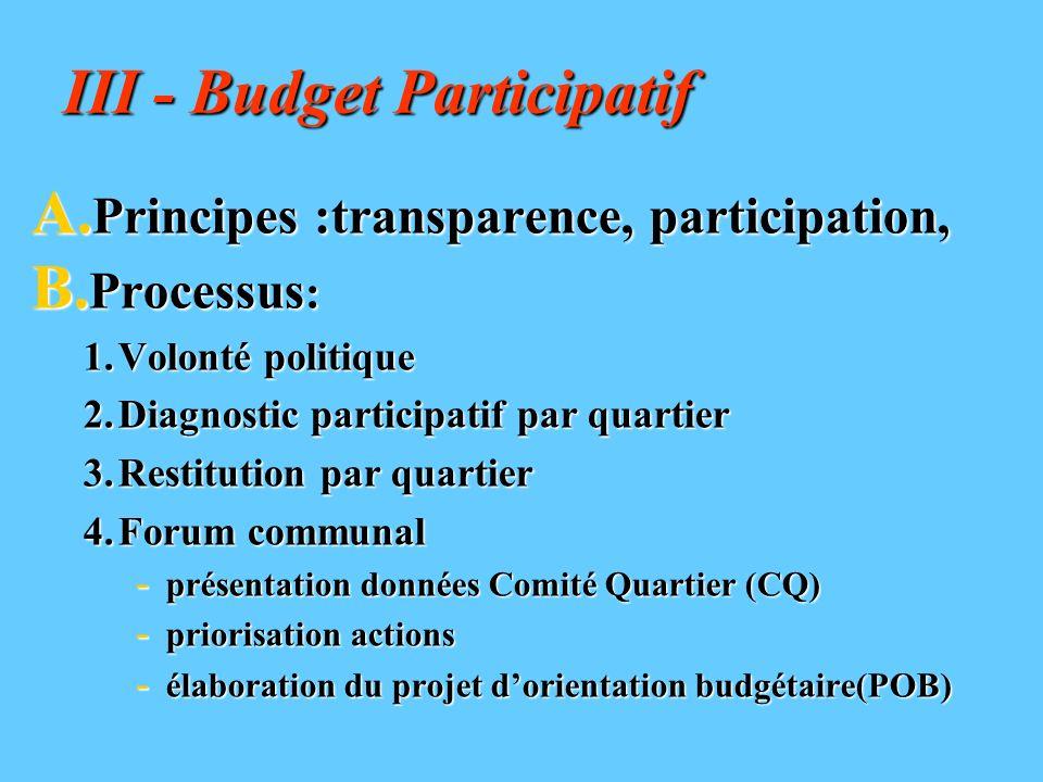 III - Budget Participatif