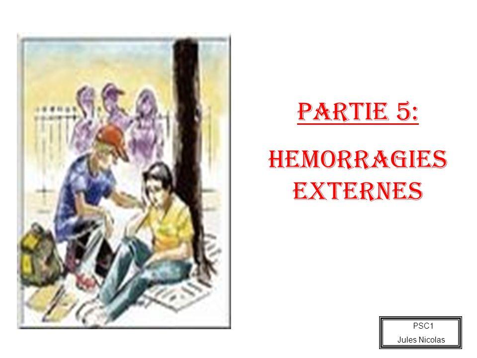 PARTIE 5: HEMORRAGIES EXTERNES PSC1 Jules Nicolas