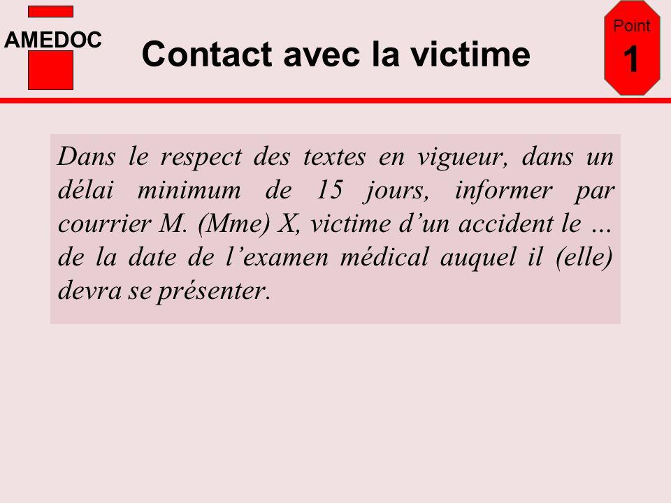 Contact avec la victime