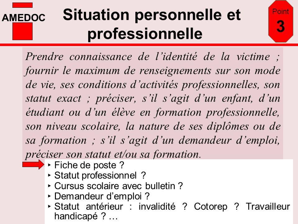 Situation personnelle et professionnelle